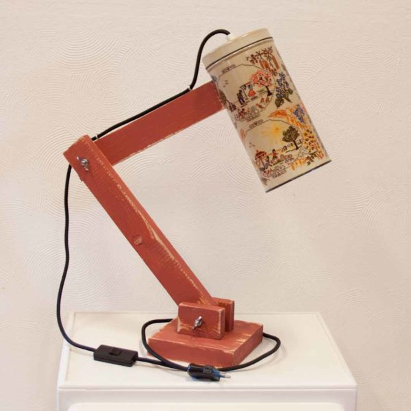 Kunstige tafellamp - Vintage Lichtblik 4 seasons red