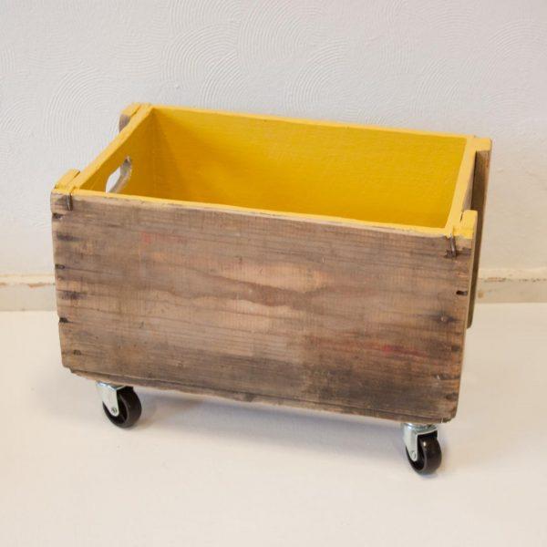 Handige opbergbox op wieltjes