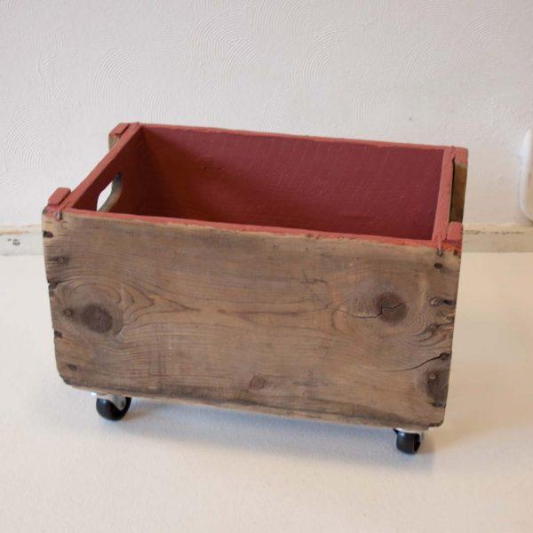 Mooie houten vintage opbergbox