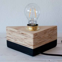 Houten design lamp, Layer Light Black