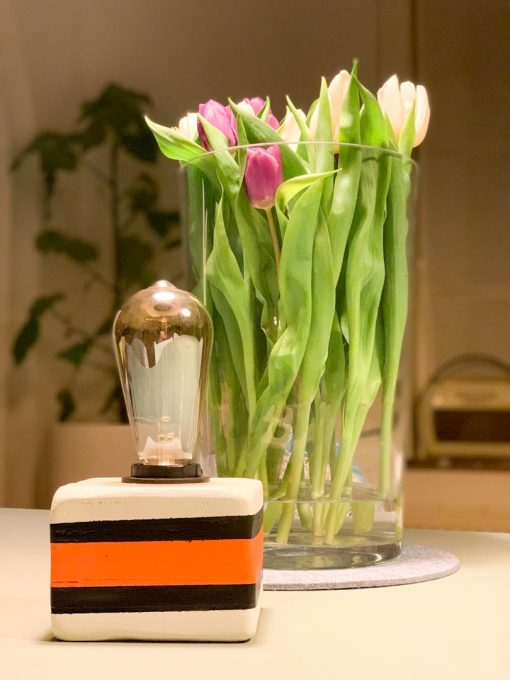 Unieke tafellamp Engels Drop Lampje Oranje