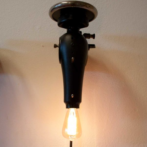 Geüpcyclede industriële wandlamp - Tailor Light Black
