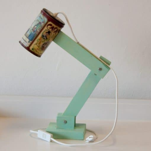 Sfeervolle tafellamp voor in de slaapkamer - Vintage Lichtblik Cacao