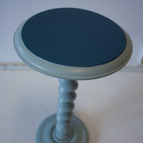 Draaitafeltje Petrolblauw/Lichtblauw